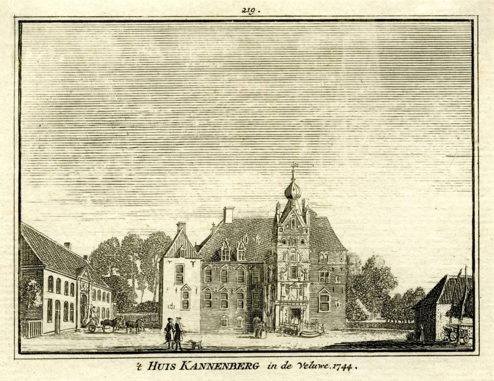 De Cannenburgh in Vaassen. Tekening Jan de Beijer, gravure Hendrik Spilman (Uit: Het Verheerlykt Nederland, Isaac Tirion, 1745/1774)